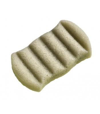 100% dabīgais Konjac Sponge sūklis ķermenim ar franču zaļajiem māliem (taukainai ādai)