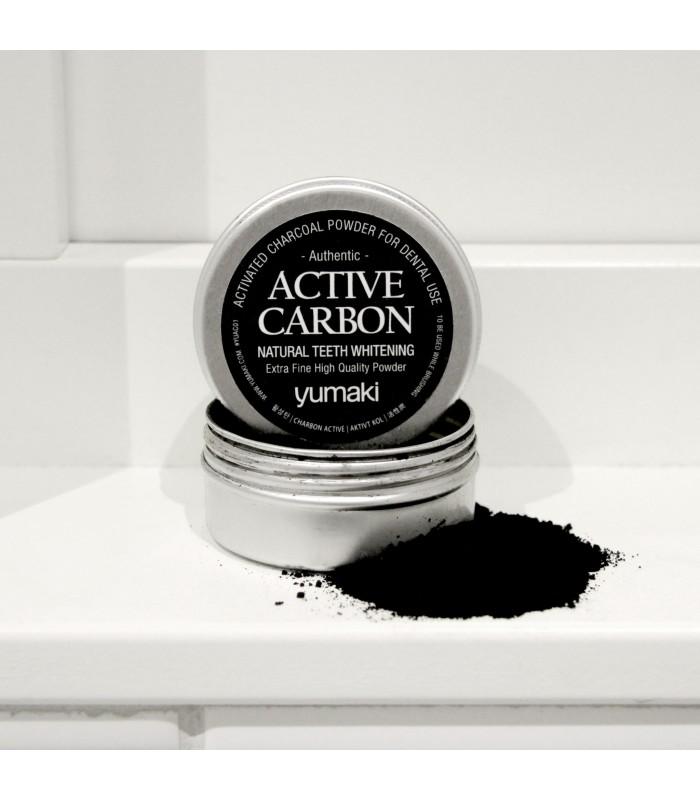 Yumaki aktīvais ogleklis zobu balināšanai 60 ml